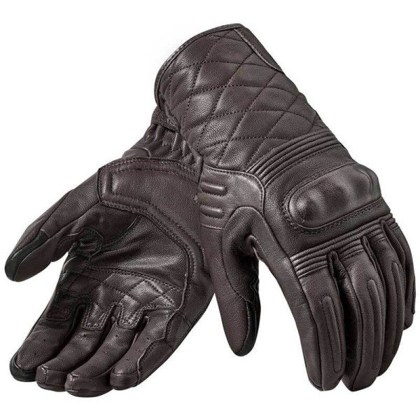 Guantes de cuero moto REVIT Monster 2 Cafe