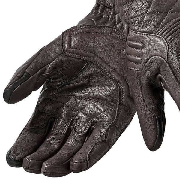 Motorcycle Gloves Leather REVIT Monster 2 Brown