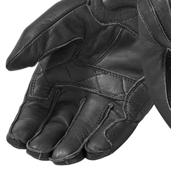 Guantes de cuero moto REVIT Cooper Negro