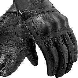 Motorcycle Gloves Leather REVIT Palmer Black ,Motorcycle Leather Gloves