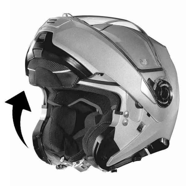 Casque Moto Modulable NOLAN N100-5 Classic N-COM Metal White