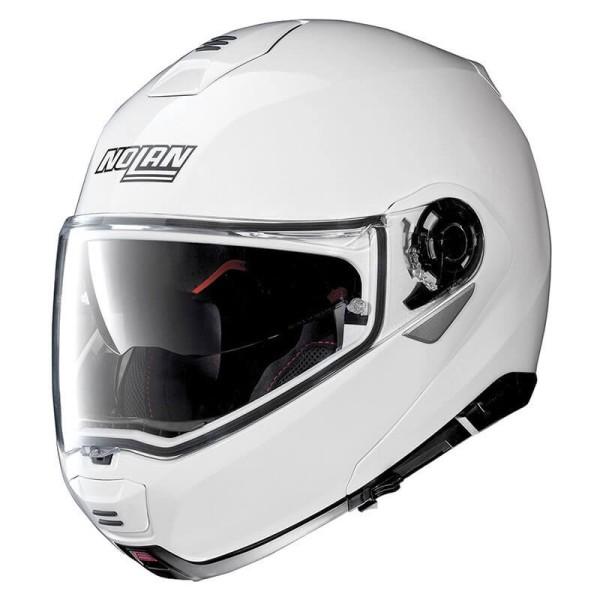 Casco Moto Modular NOLAN N100-5 Classic N-COM Metal White