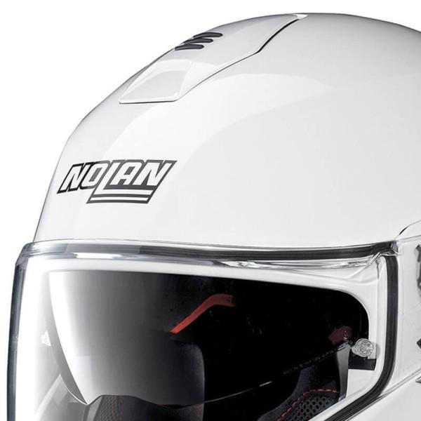 Motorcycle Helmet Modular NOLAN N100-5 Classic N-COM Metal White