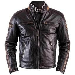 Giubbotto Moto Pelle HELSTONS Ace Rag Marrone, Giubbotti e Giacche Pelle Moto