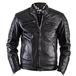 Motorcycle Leather \nJacket HELSTONS Cruiser Rag Black ,Leather Motorcycle Jackets