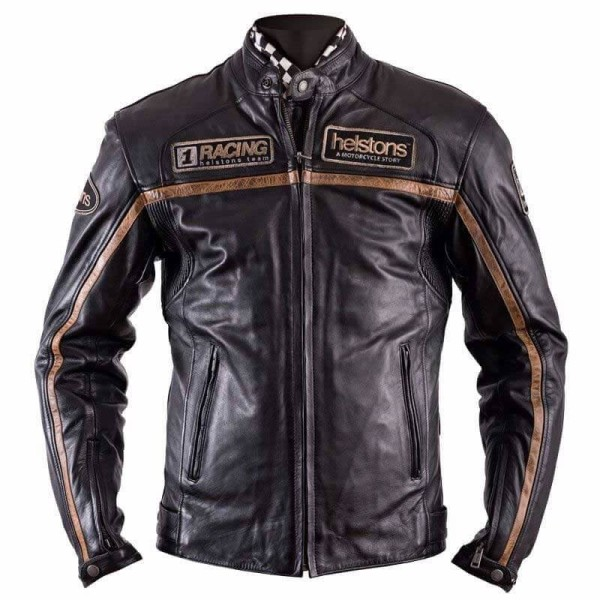 Motorcycle Leather \nJacket HELSTONS Cruiser Rag Brown ,Leather Motorcycle Jackets