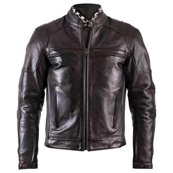 Motorradjacke Leder HELSTONS Trust Dirty Braun ,Leder Motorrad Jacken