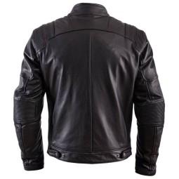 Chaqueta Moto Cuero HELSTONS Trust Negro