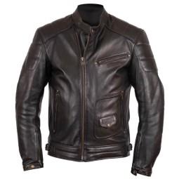 Motorcycle Leather \nJacket HELSTONS Rusty Brown