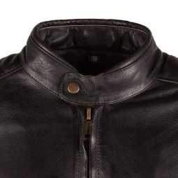 Leather motorcycle jacket Helstons Track Brown