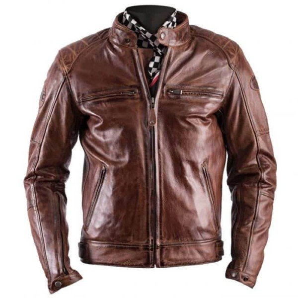Leather motorcycle jacket Helstons Track camel