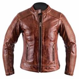 Motorcycle Leather \nJacket Woman HELSTONS Razzia Camel ,Leather Motorcycle Jackets