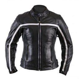 Motorcycle Leather \nJacket Woman HELSTONS Daytona Black ,Leather Motorcycle Jackets