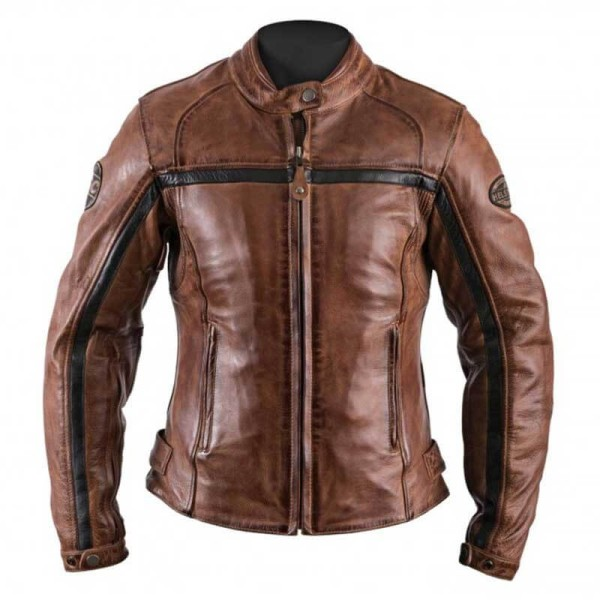 Motorcycle Leather \nJacket Woman HELSTONS Daytona Camel ,Leather Motorcycle Jackets