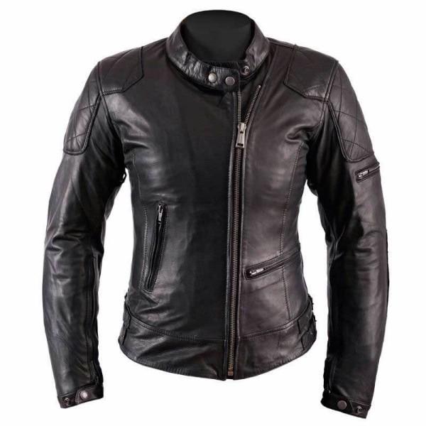 Motorcycle Leather \nJacket Woman HELSTONS KS70 Black