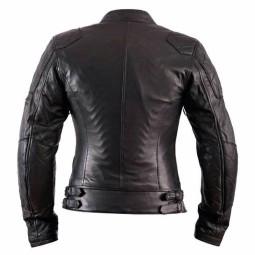 Chaqueta Moto Cuero Mujer HELSTONS KS70 Negro
