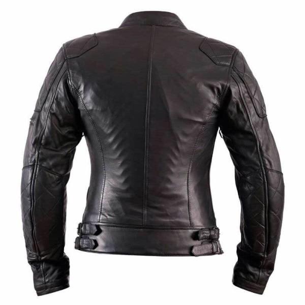 Blouson Moto Cuir Femme HELSTONS KS70 Noir