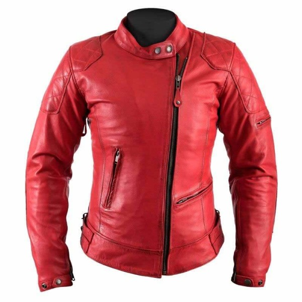 the latest b9206 c8a7d Giubbotto Moto Pelle Donna HELSTONS KS70 Rosso