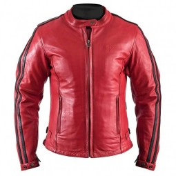 Motorcycle Leather \nJacket Woman HELSTONS Angel Red ,Leather Motorcycle Jackets
