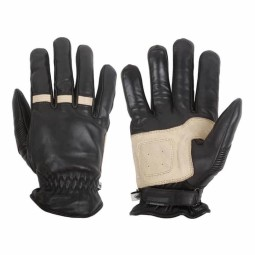 Motorcycle Winter Leader Gloves HELSTONS Velvet Black, Motorcycle Leather Gloves