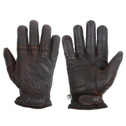Motorcycle Winter Leader Gloves HELSTONS Velvet Brown ,Motorcycle Leather Gloves