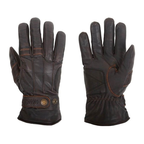 Motorcycle Winter Leader Gloves HELSTONS Brod Brown ,Motorcycle Leather Gloves