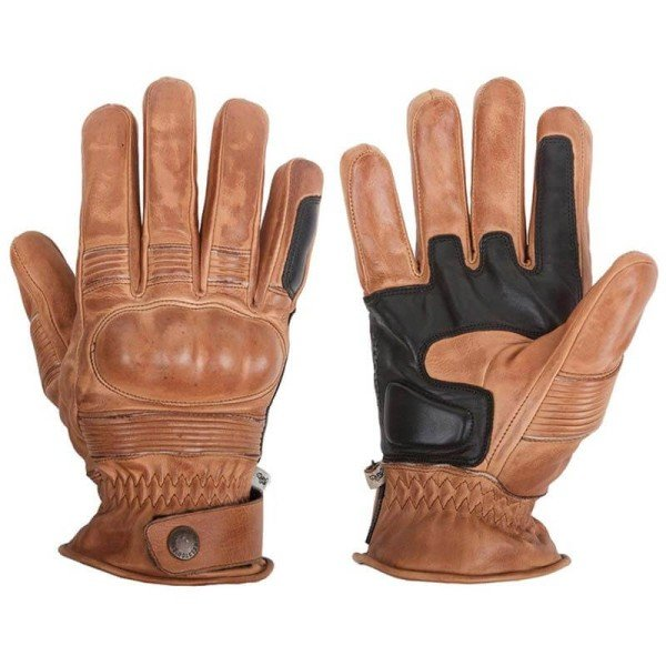Motorcycle Winter Leader Gloves HELSTONS Monza Camel ,Motorcycle Leather Gloves