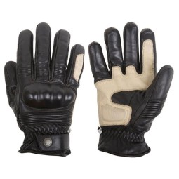 Motorcycle Winter Leader Gloves HELSTONS Monza Black ,Motorcycle Leather Gloves