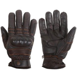Motorcycle Winter Leader Gloves HELSTONS Monza Brown ,Motorcycle Leather Gloves