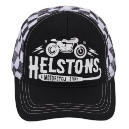 Motorcycle Cap HELSTONS Café Racer Black, Beanies and Hats