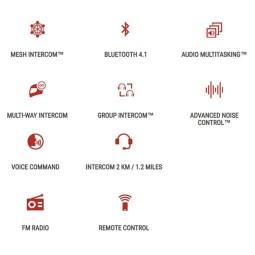 Interphone Bluetooth Sena 30K Connection Netzwerk Single ,Interphones und Zubehör