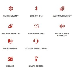 Interfono Bluetooth Sena 30K Conexion Network Doble