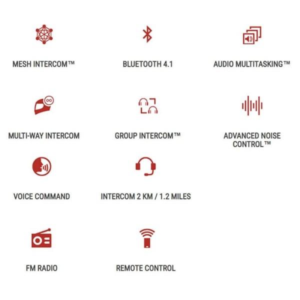 Intercom Bluetooth Sena 30K Network Connection Double