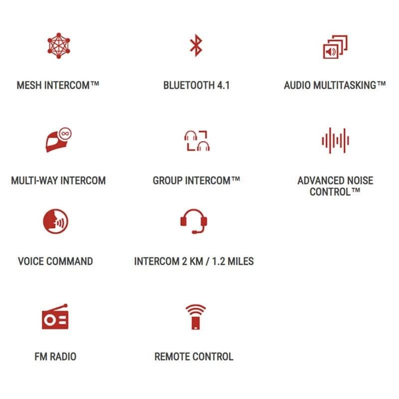 Sena 30K DOPPIO Sistema di comunicazione Bluetooth con connessioni a rete
