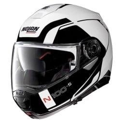 Motorrad Helm Modular NOLAN N100-5 CONSISTENCY N-COM Metal White