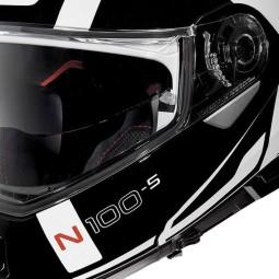 Casco Moto Modulare NOLAN N100-5 CONSISTENCY N-COM Metal White, Caschi Modulari