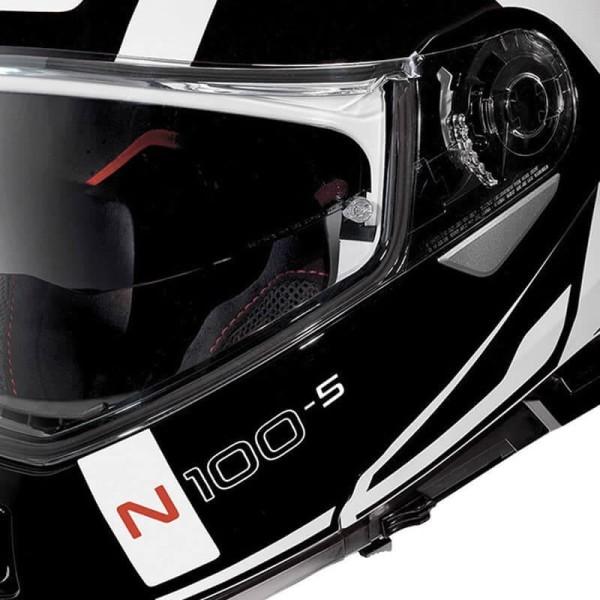 Casco Moto Modular NOLAN N100-5 CONSISTENCY N-COM Metal White