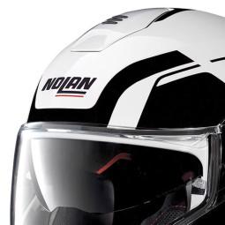Motorcycle Helmet Modular NOLAN N100-5 CONSISTENCY N-COM Metal White ,Modular Helmets