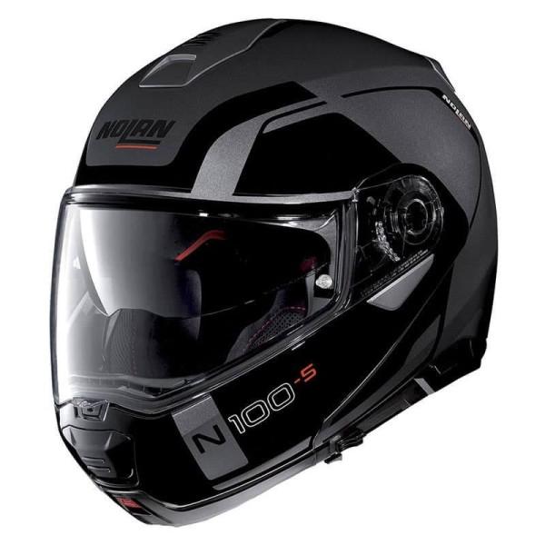 Casque Moto Modulable NOLAN N100-5 CONSISTENCY N-COM Lava Grey
