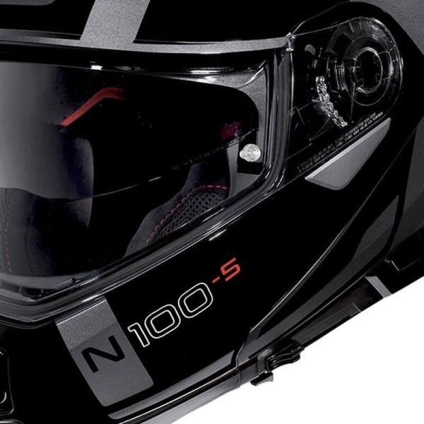 Motorrad Helm Modular NOLAN N100-5 CONSISTENCY N-COM Lava Grey