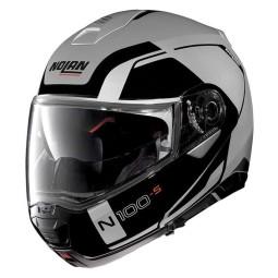 Motorrad Helm Modular NOLAN N100-5 CONSISTENCY N-COM Flat Silver ,Modularen Helme