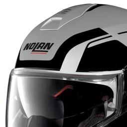 Casco Moto Modulare NOLAN N100-5 CONSISTENCY N-COM Flat Silver, Caschi Modulari