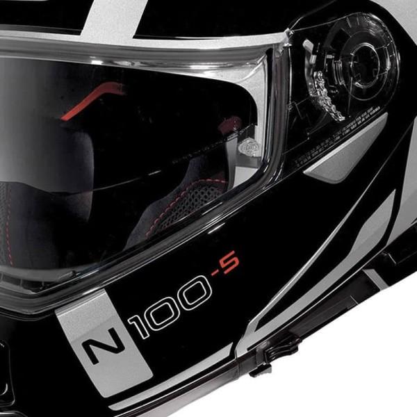 Casco Modular NOLAN N100-5 CONSISTENCY N-COM Flat Silver