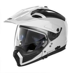 Casco Moto Enduro Nolan N70-2 X Classic 5 Metal White, Caschi Motocross / Adventure