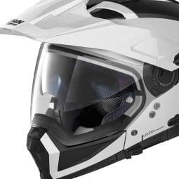 Casco Moto Enduro Nolan N70-2 X Classic 5 Metal White