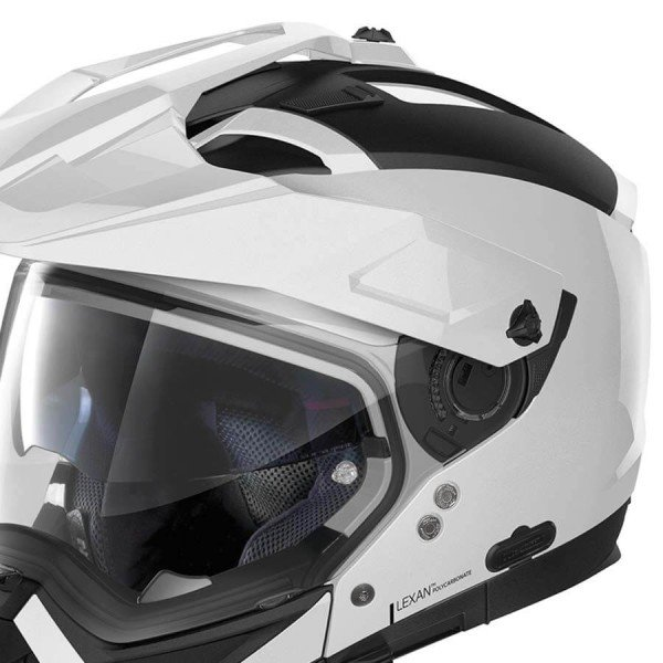Enduro Helmet Nolan N70-2 X Classic 5 Metal White