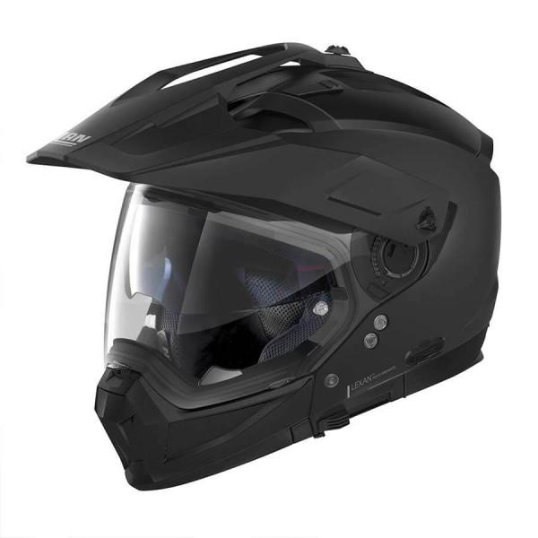 Casco Moto Enduro Nolan N70-2 X Classic 10 Flat Black, Caschi Motocross / Adventure