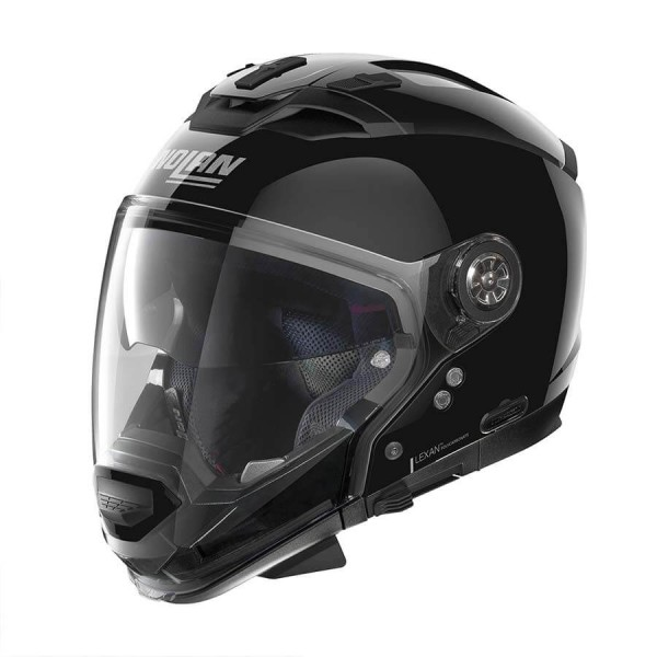 Casco Moto Modulare Nolan N70-2 GT Classic 3 Glossy Black, Caschi Modulari