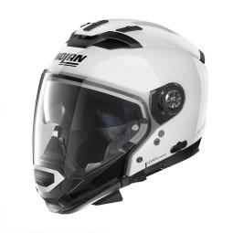 Casco Moto Modulare Nolan N70-2 GT Classic 5 Metal White, Caschi Modulari