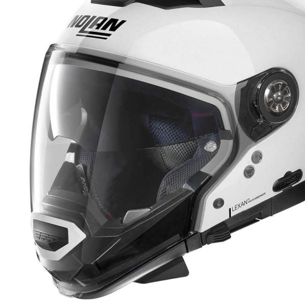 Motorrad Helm Modular Nolan N70-2 GT Classic 5 Metal White